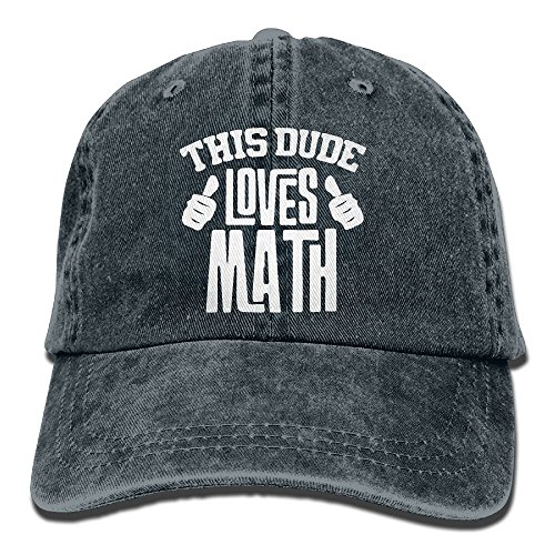 Dude Cap Vintage Baseball (CDHLBNG Men and Women This Dude Loves Math Vintage Jeans Baseball Cap)