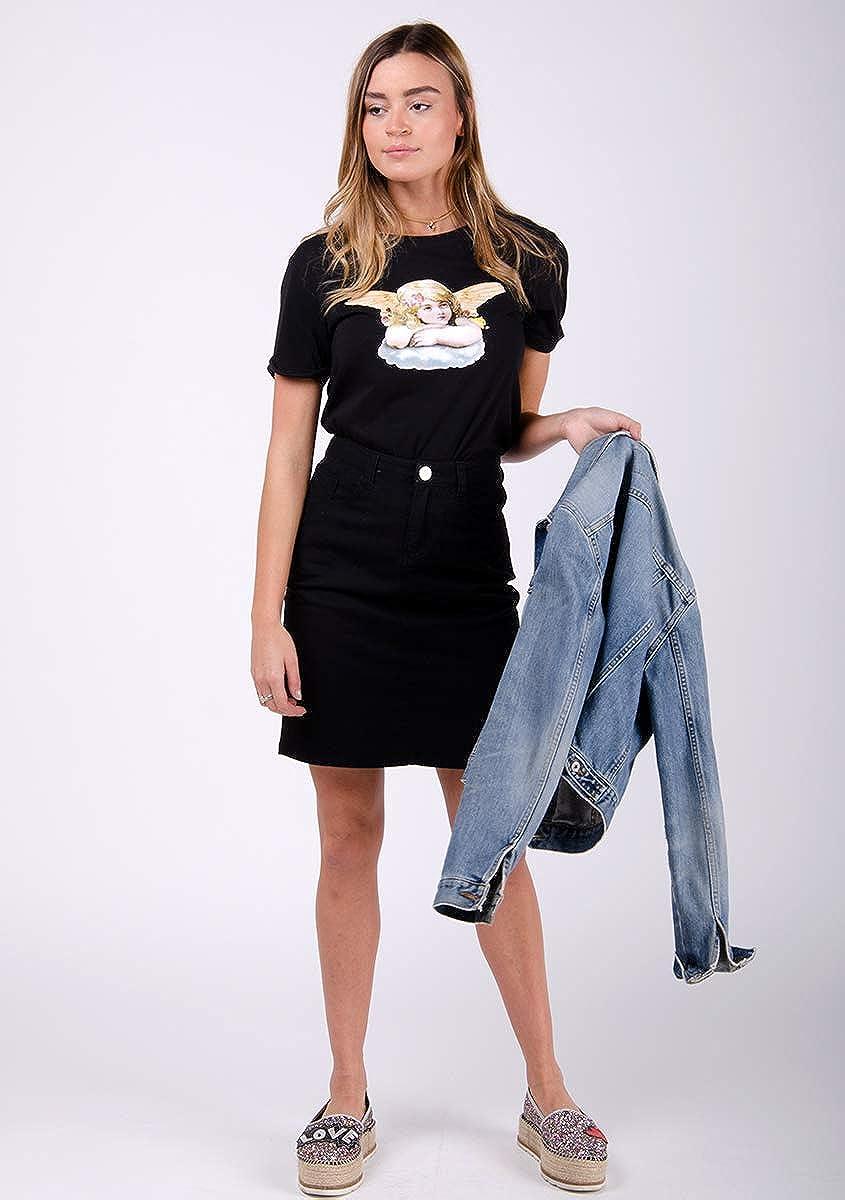 Wash Clothing Company Jeans Gonna Donna Denim Taglia 40-48 Midi a Tubo Nadine