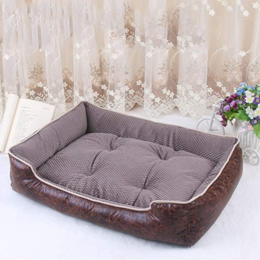 DIANZI Cama Camas para Perros Impermeable Cozy Pet Basket Dog Dog Kennel Colchón extraíble para Cachorros Big Animals Bulldog Teddy, Dark Kakhi, L: Amazon.es: Productos para mascotas