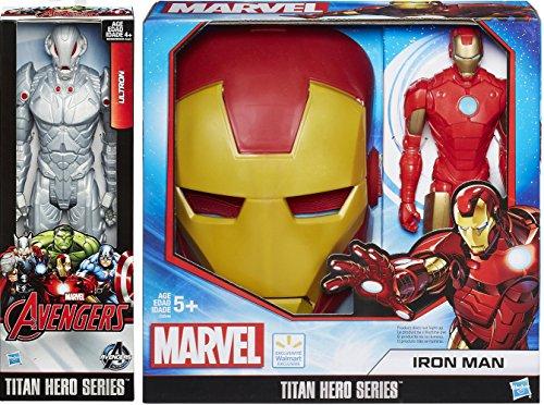 Iron-Man Avengers Titan Series Mask & Marvel Figures Hero Series + Ultron with Red Eyes 12