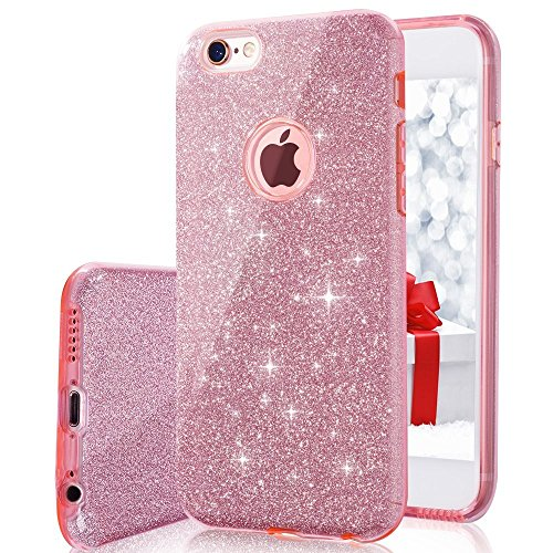 iPhone 6 Case, iPhone 6S Case, VPR Bling Luxury Glitter Pretty Cute Premium 3 Layer Ultra Thin Sparkle Anti-Slick / Soft Slim TPU Unique/ Protective Case for iPhone 6 / 6S 4.7 inch (Shocking Pink Anime)