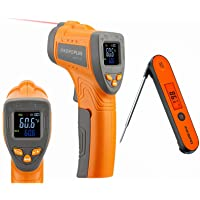 INKBIRD Infrared Thermometer Digital Laser Temperature Gun -58℉~1022℉ INK-IFT01 and Instant Read Meat Thermometer IHT-1P…