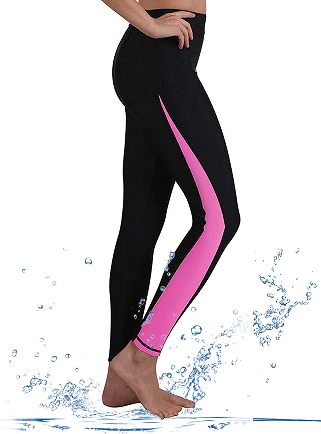 GEEK LIGHTING Womens UPF 50+ Surfing Skins Leggings Wetsuit Swim Long Pants