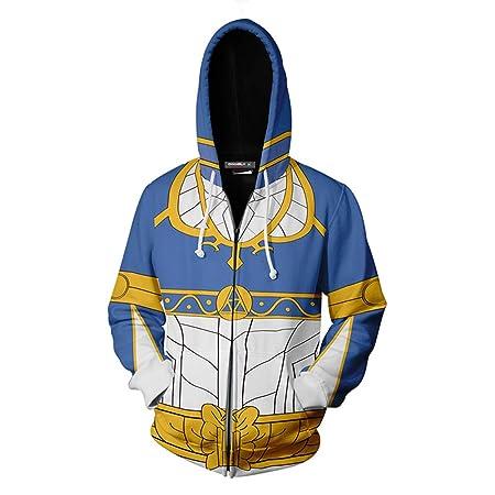 Vokaer Zelda Cosplay Coat Jacket Sudadera Azul Estilo ...