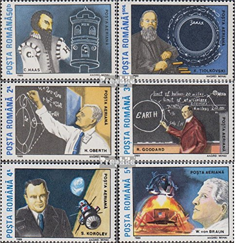 Romania 4575-4580 (complete issue) 1989 Moon Landing (Stamps for collectors) Space
