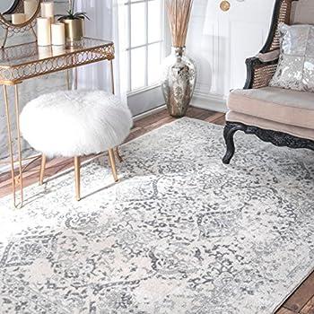 Amazon Com Traditional Vintage Honeycomb Labyrinth Grey