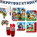 Paw Patrol Birthday Party Kit Includes Happy Birthday Banner And Birthday Candles Serves 16 By Party City