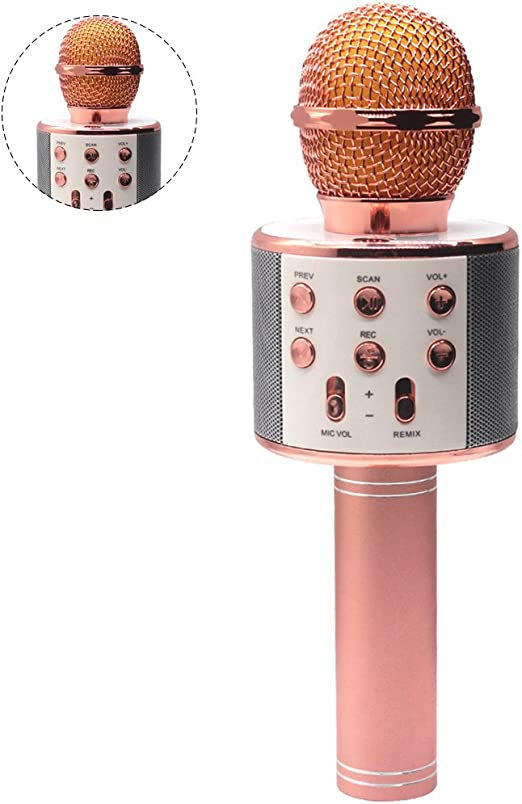 Pingenaneer micrófono inalámbrico Bluetooth sin hilos Microphone ...