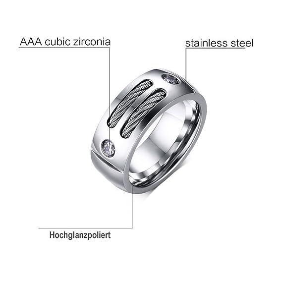 Wortek Ring Rostfreier Edelstahl Stainless Steel Fingerring Fur