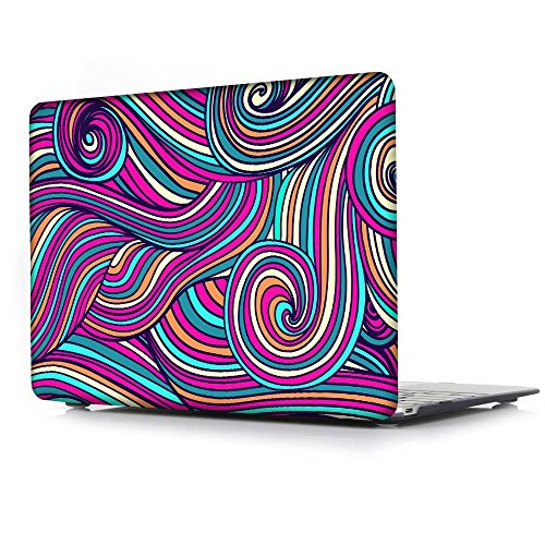 Macbook Air 11.6 Case,Waves Texture pattern Print Laptop ...