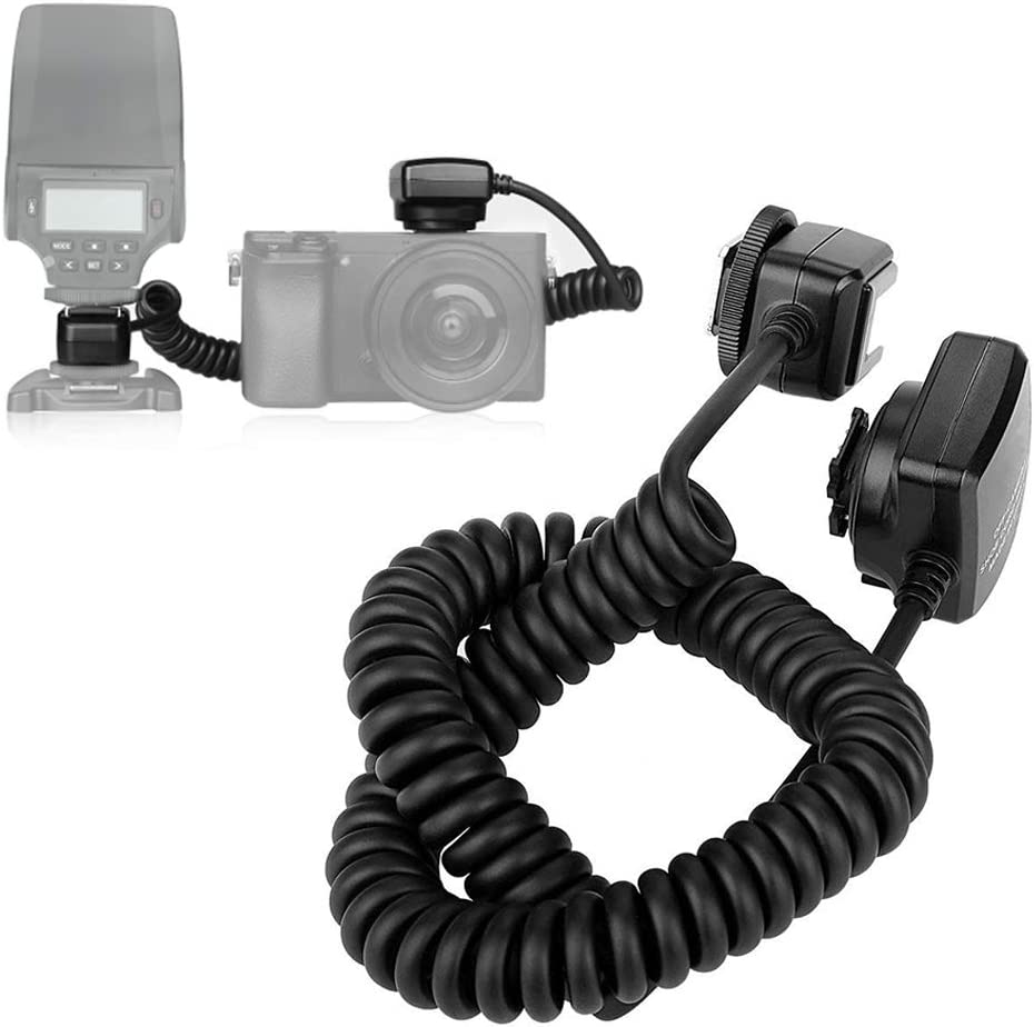 Oumij Meike MK-FA02 3m TTL Off-Camera Cord Cable 3m Off-Camera Flash Shoe Cord for Sony MI Hot Shoe Mount Speedlites for Cameras and Flash Speedlite