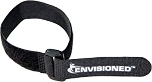 """Reusable Cinch Straps 1.5"""" x 12"""" - 10 Pack, Multipurpose Strong Gripping, Quality Hook and Loop Securing Straps (Black)"""