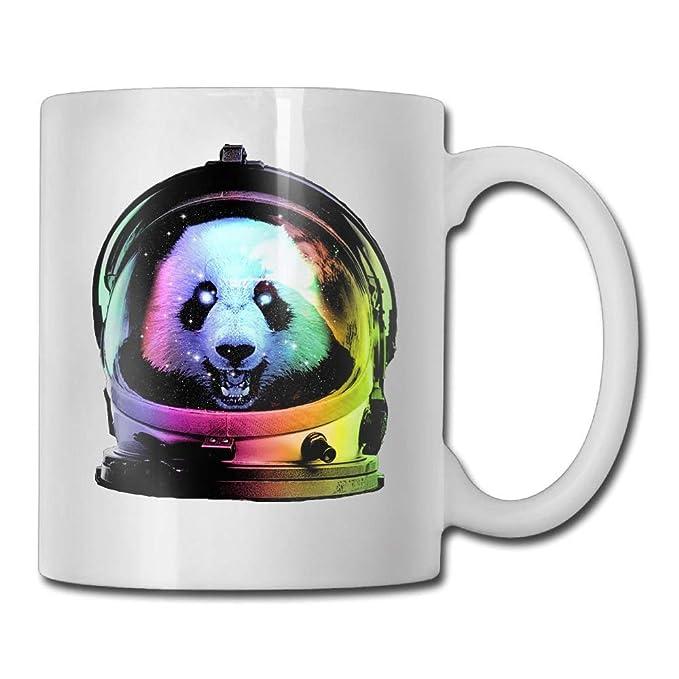 Taza de café divertida con diseño de astronauta Panda Space de 11 onzas regalo perfecto para familia y amigos