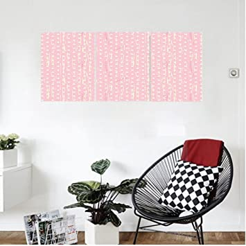 Liguo88 Custom Canvas Grunge Romantic 60s 50s Retro Pop Art Inspired Polka  Dots On Abstract Backdrop