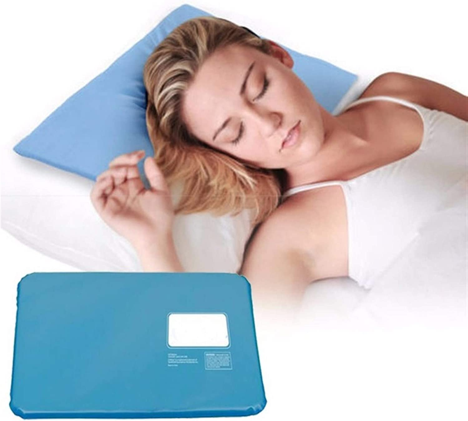 Summer Ice Pad Massager Therapy Sleeping Aid Insert Chillow Pad Mat Muscle Relief Cooling Gel Pillow