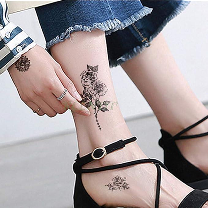 tzxdbh Etiqueta engomada del Tatuaje Temporal a Prueba de Agua ...