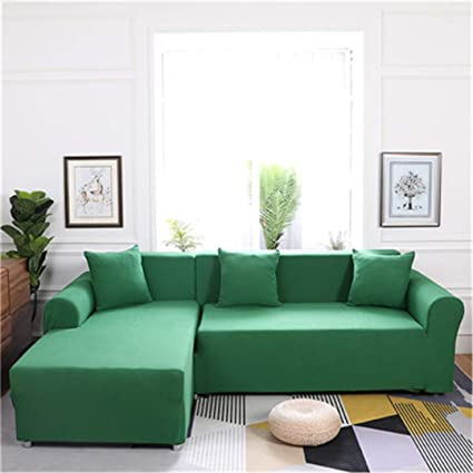 Elasticity L Shaped Sofa Cover Single/Double/Three/Four-Seat Sofa  Slipcovers Cotton Solid Sofa Cover for Living Room Seat Cover 7 Four-Seater
