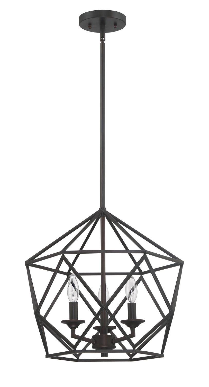Luminance F3418-64 3-Light Bronze Pendant