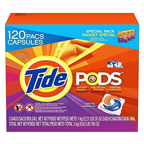 Tide Pods Spring Meadow 120 Pacs Laundry Detergent Stain ...