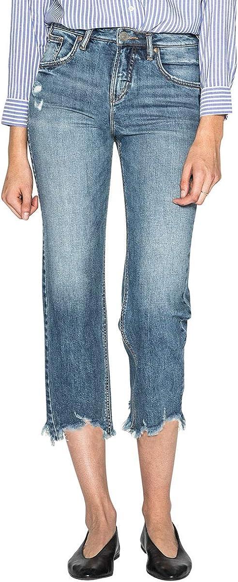 Womens Wide Leg Crop Jeans Silver Jeans Co