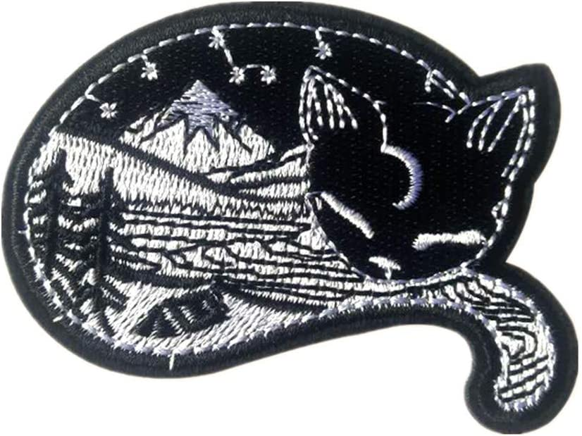 SUNMOVE 1PC Nature in Cat Iron On Sew On Patch Badge for Jacket Jean Hat Applique Craft
