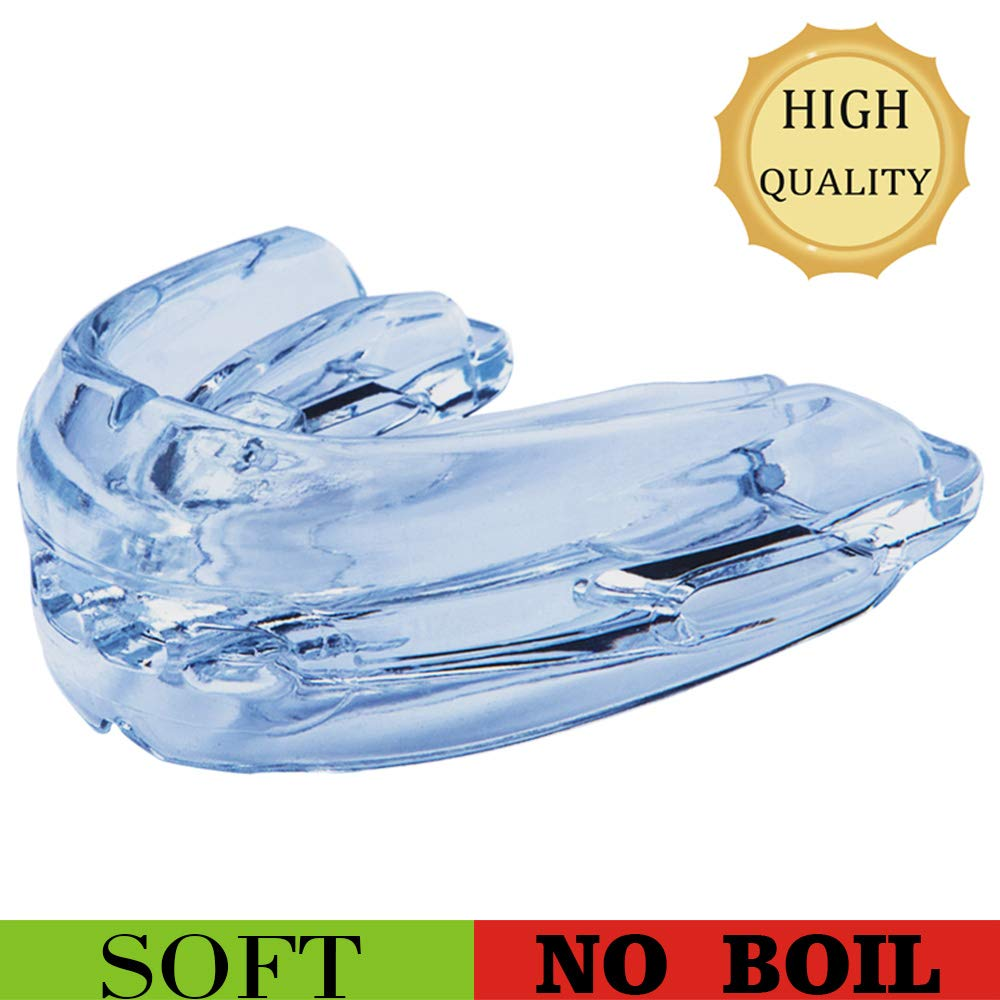 Sport Mouth Guard, Mouth Guard for Braces for Sports, Mouthguard for Youth/Professional Athlete, Upper and Lower Teeth Protection, Premium Quality No Boiling Required(Colorless) by Teeth Walls