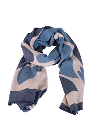 1ddae8af2 New Ladies Italian Heart Print Cashmere Mix Scarf Women Winter Scarf One  Size (Denim): Amazon.co.uk: Clothing