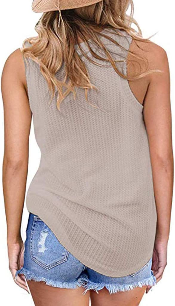 WANQUIY Womens Tops Plus Size Fashion Women Solid T-Shirt Short Sleeve Vest V-Neck Rivet Blouse Shirt