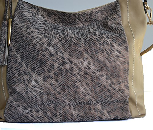 cheetah hobo women purse shopper shoulder print animal Khaki leopard PBInHrqI5