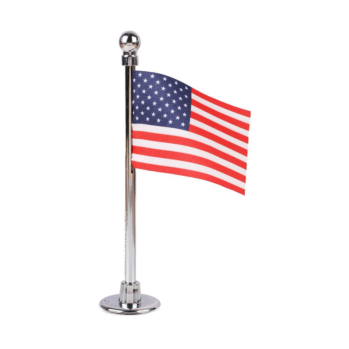 The Flag Shop USA Miniature Car Dashboard Flag with A Nano Chrome-Plated Plastic Base