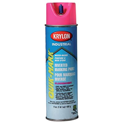 Krylon Industrial Quik-Mark Wb Inverted Marking Paint Fluorescent Pink - Lot of 12: Everything Else