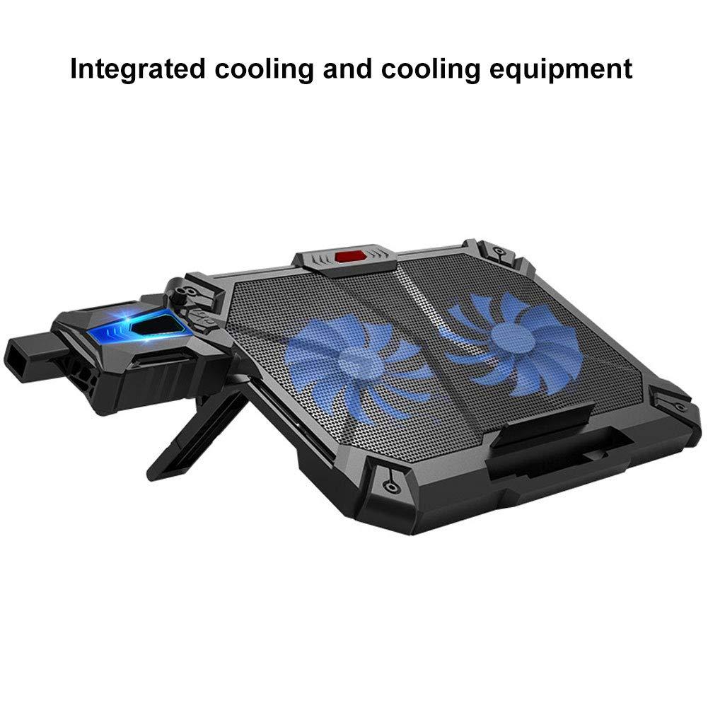 Shentesel Laptop Cooler Mute Cooling Fan Pad Adjustable Anti-Slip Stand Holder by Shentesel
