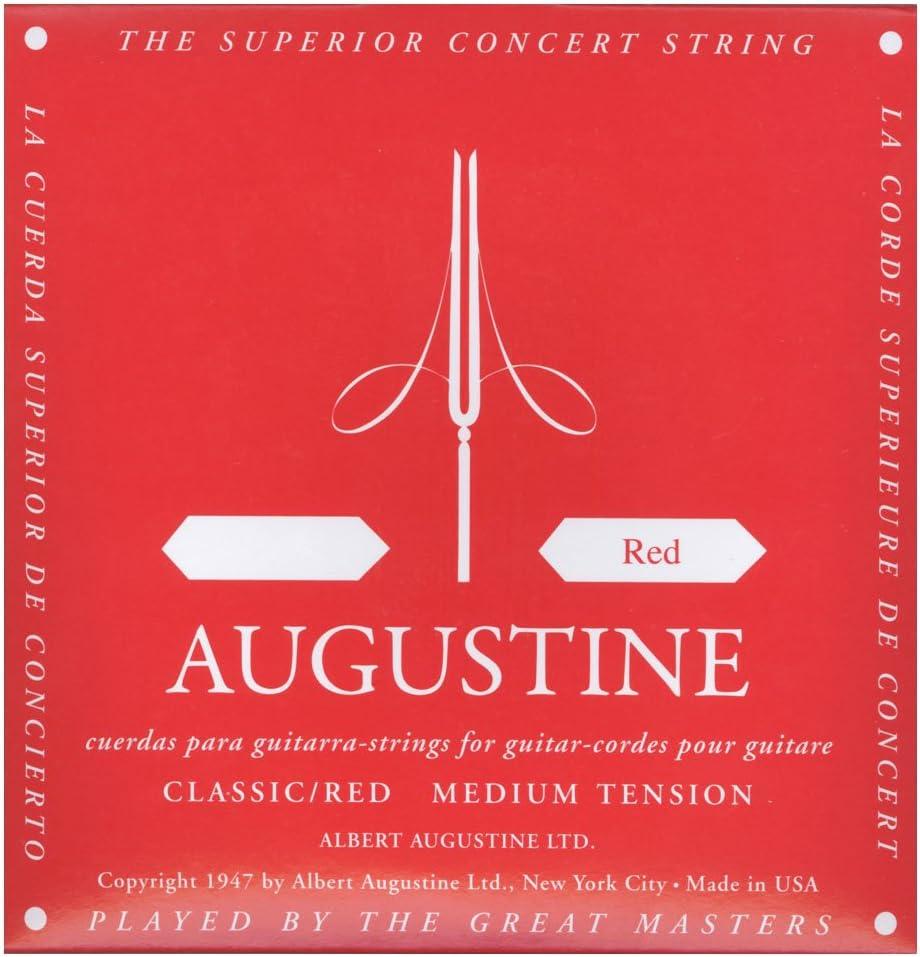 Augustine Cuerdas para Guitarra Clásica, Rojo, Re4, Tensión Medio