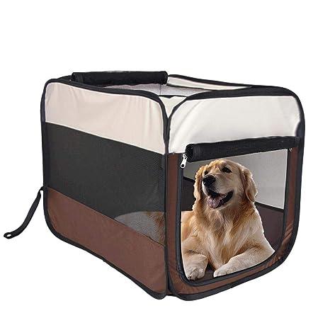JOHLYE Mascotas Supplies Litter Portátil Plegable para Mascotas Carpa de Cuatro Caras Valla para Perros Casa