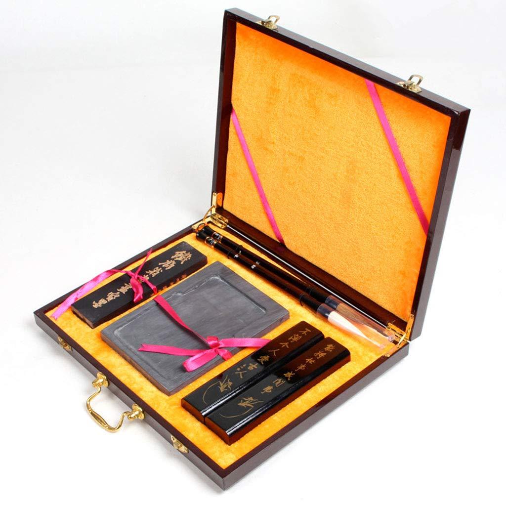 中国の筆、中国のピストン水インクブラシ書道イタチの毛ペン+ウールのペン、運ぶこと容易 B07MZ5CZDT
