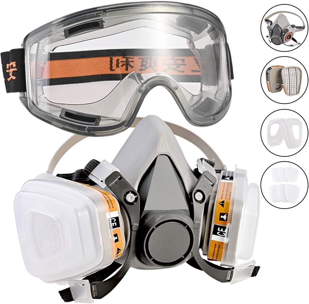 Faburo máscara respiradora Reutilizable filtros de máscara Doble Filtro Antipolvo antiniebla anteojos de Seguridad Industrial