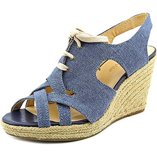 Bella Vita Womens Gracia Espadrille Wedge Sandal Blue Canvas vS4QVeQRP0