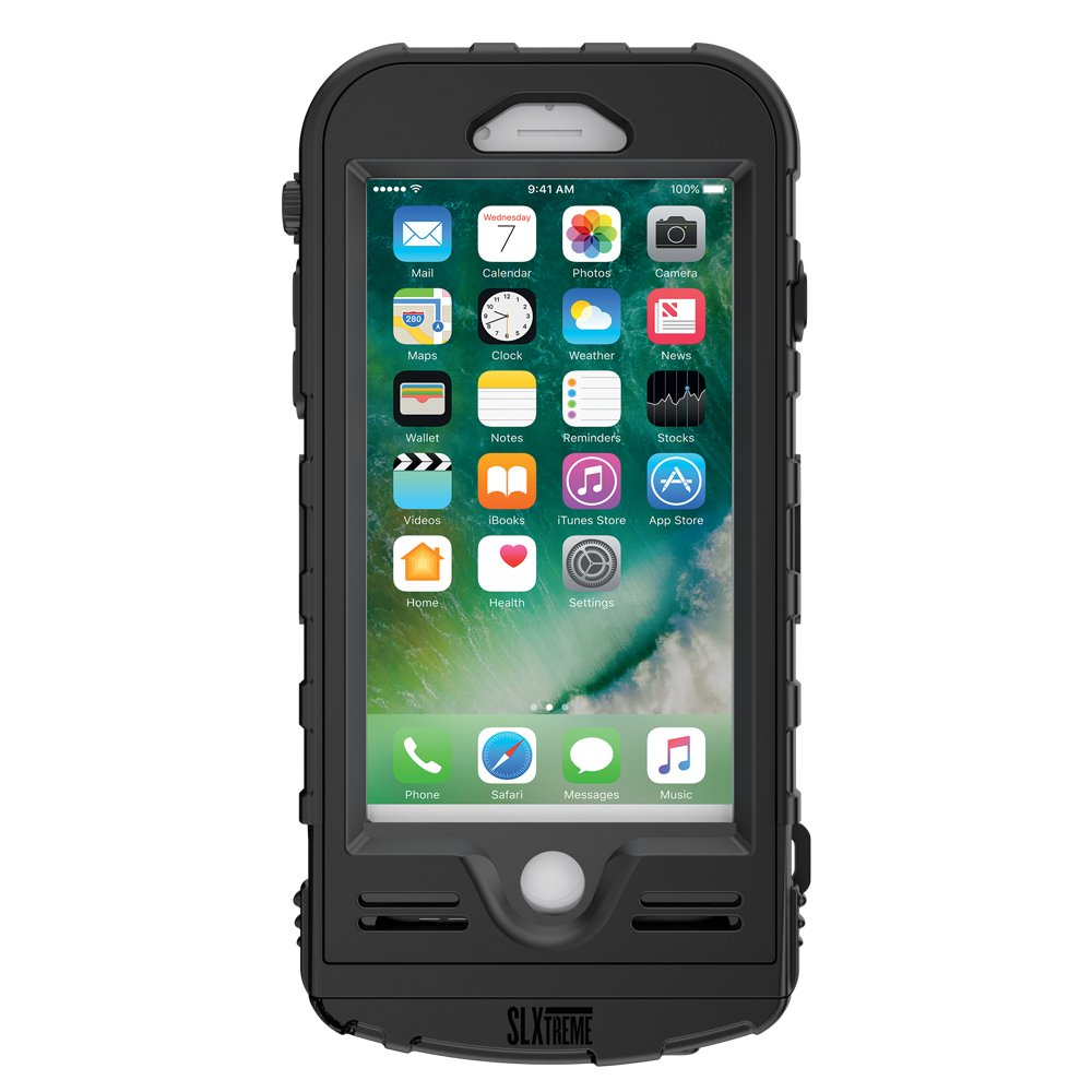 Snow Lizard Products Solar Charge, Waterproof Battery Case for iPhone 7/8 - Black by Snow Lizard Products (Image #2)