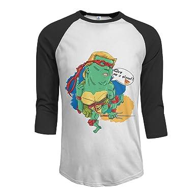 Funny Give Me A Pizza Turtles President Heros Manga raglán ...
