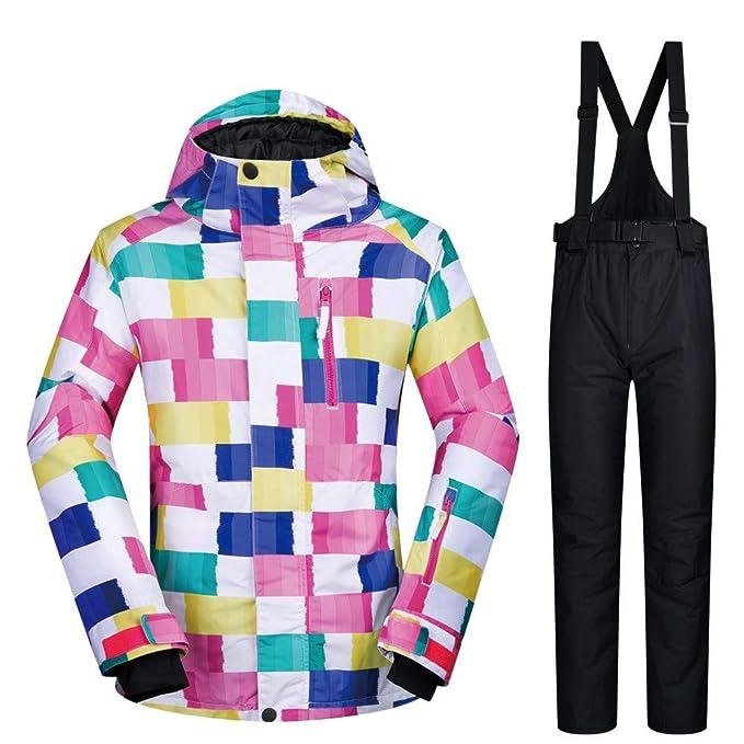 Chaqueta de esquí para Mujer a Prueba de Viento pantalón Impermeable 2 Set: Amazon.es: Ropa y accesorios