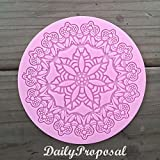 M2 Surround the Flower Silicone Embossing Mold Doily Mat Gum Paste Fondant Cake Lace Decorating Icing Sugar Round