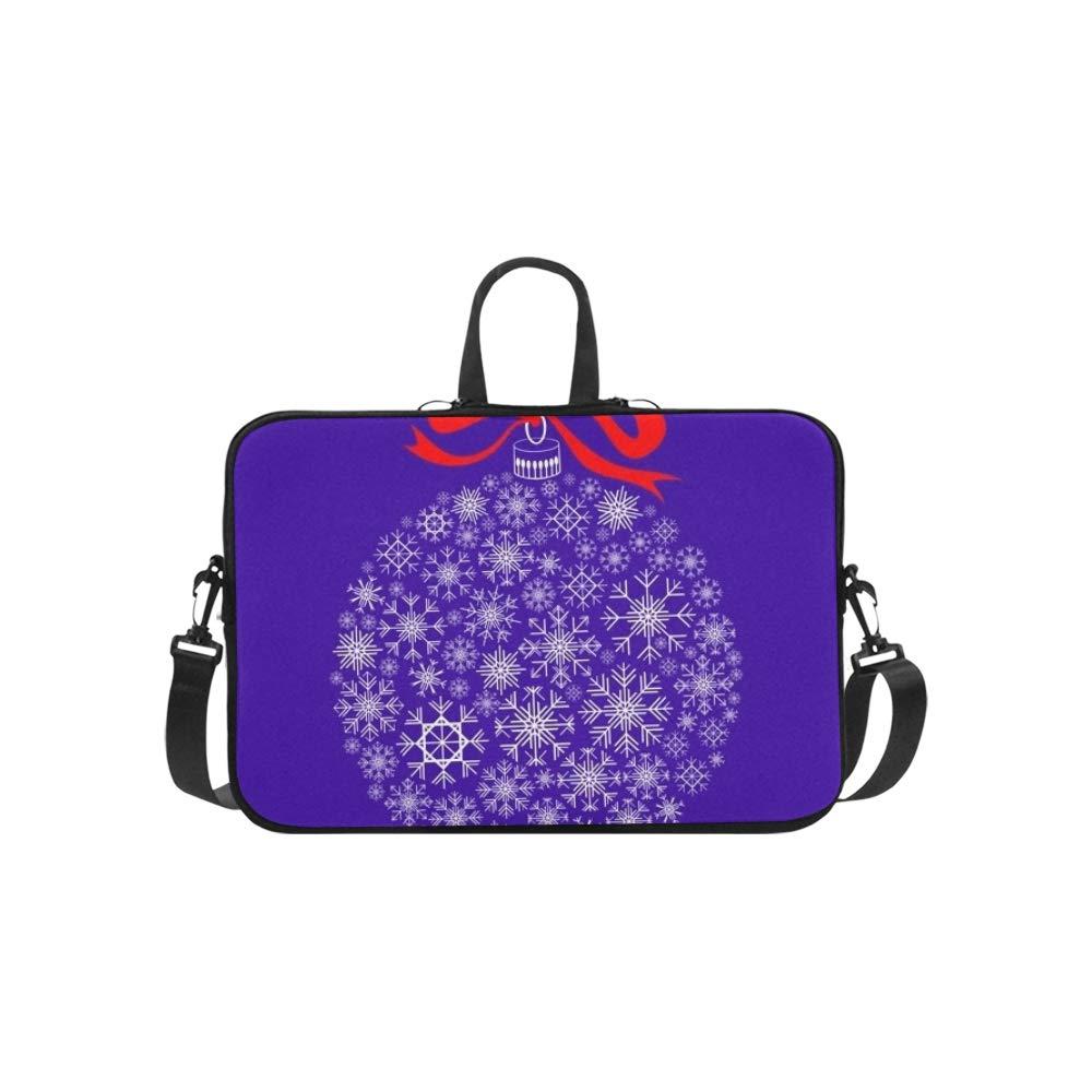 Aislado Blanco Christmas Ball Silueta en patrón patrón en Maletín Portátil Bolso Messenger Shoulder Work Bag Crossbody Bolso para Viajes de Negocios 84172e