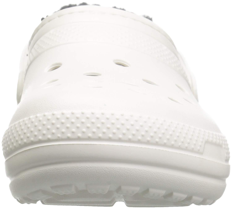 Crocs Unisex-Erwachsene Classic Lined Clogs Weiß/Grau Weiß/Grau Clogs 0acf5a