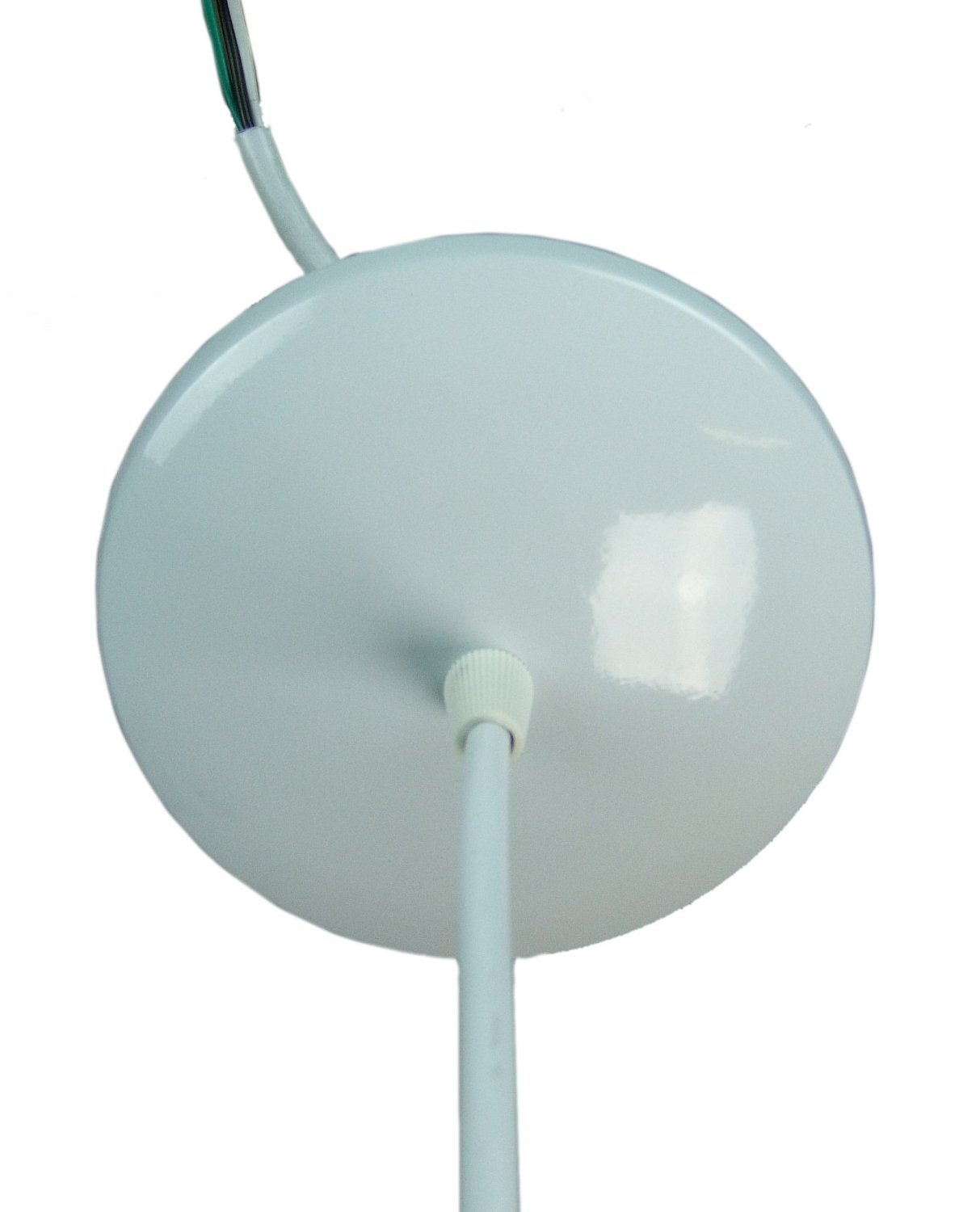 Canopy Kit White - Convert Your Home Concept Plug in Swag to a hardwire Pendant Light - Includes Everything You Need