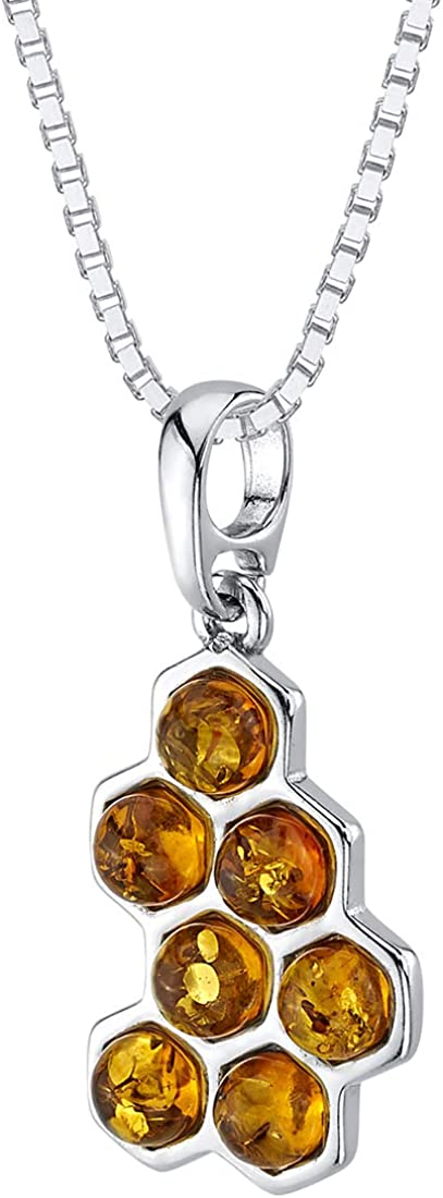 Gift for Mother/'s Day Silver with  Baltic Amber Necklace 30