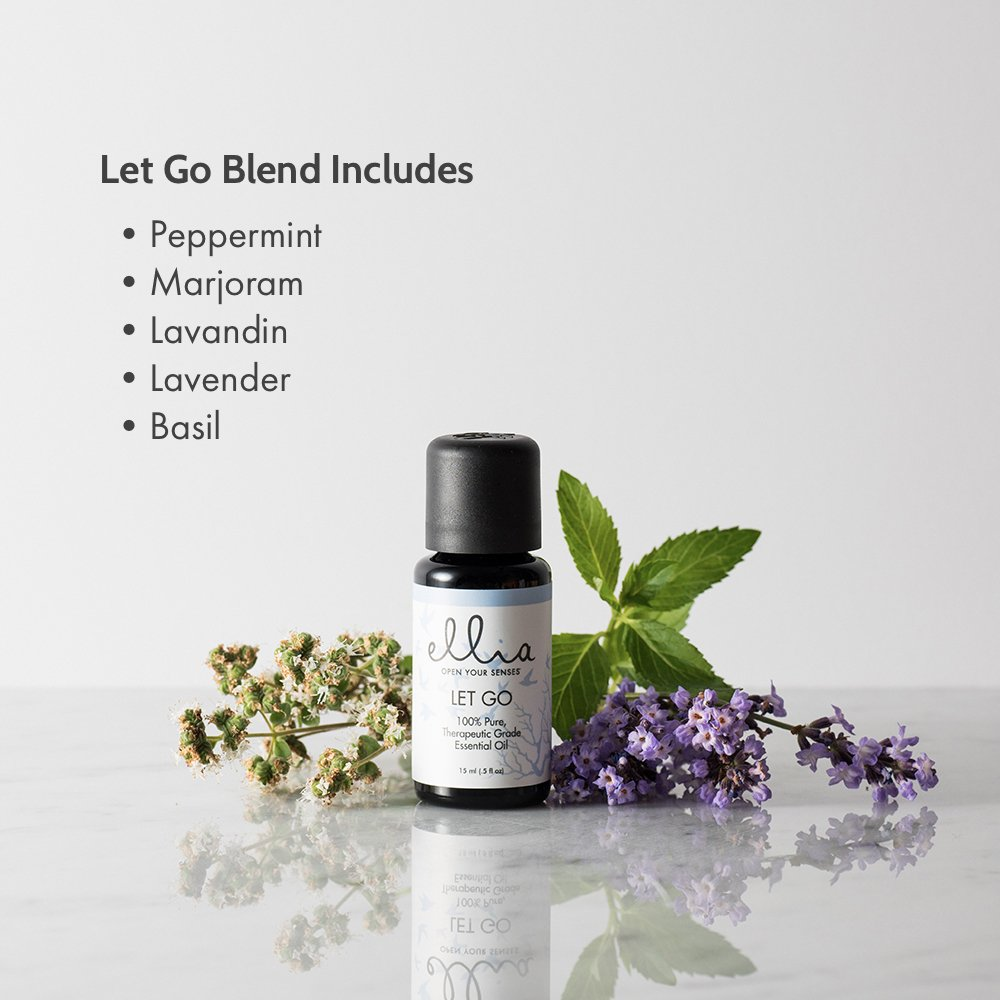 Let Go Blend Aromatherapy Essential Oil | 15 mL, 100% Pure, Therapeutic Grade Aromatherapy | Eases Stress, Calms, and Relaxes, Use in Diffuser or Topically on Skin, Peppermint, Lavender, Basil | Ellia by Ellia (Image #2)