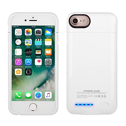 18 opinioni per Mbuynow Cover Batteria da 3000mAh Cover Ricaricabile iPhone Power Case Custodia