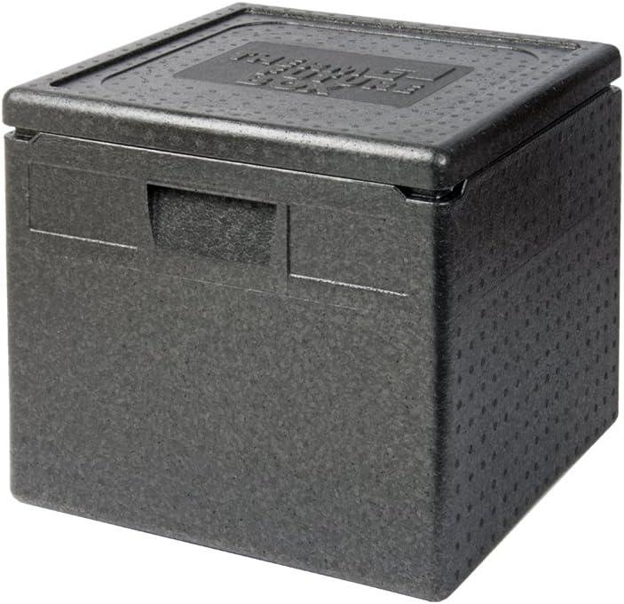 Schwarz 350 x 350 x 100 mm EPP Thermo Future Box Transport-und Isolierbox expandiertes Polypropylen
