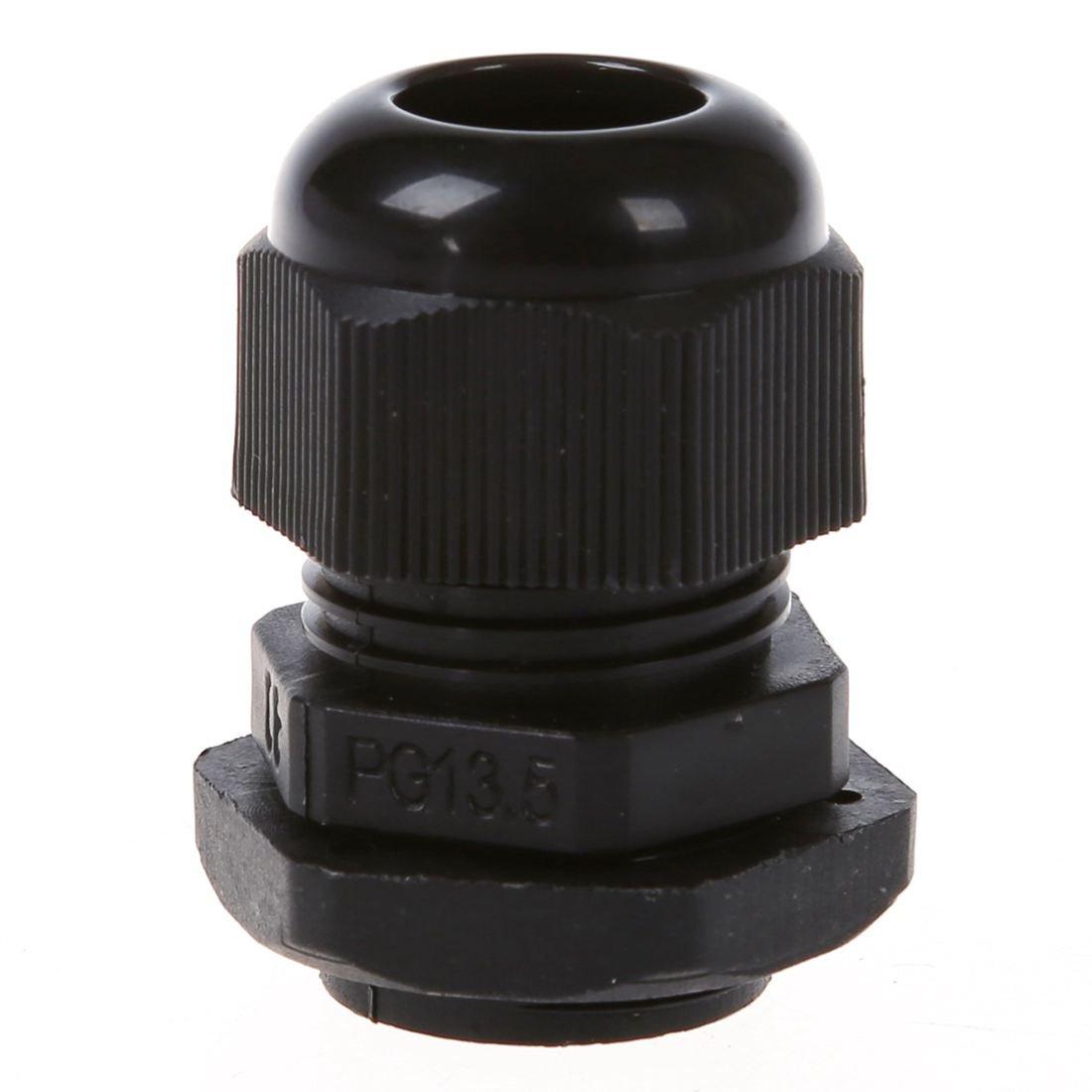 TOOGOO(R) 5 Pcs PG13.5 Black Plastic Waterproof Connectors Cable Glands by TOOGOO(R) (Image #1)