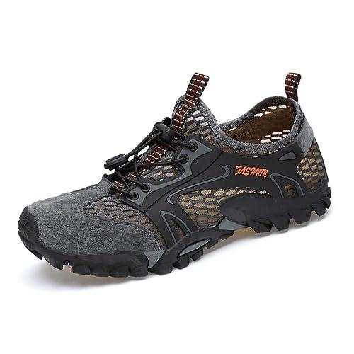 DUORO Damen Herren Trekking Wanderschuhe Atmungsaktiv Outdoor Fitnessschuhe Mesh Wasserschuhe Sport Laufen Klettern Sandalen 35 47